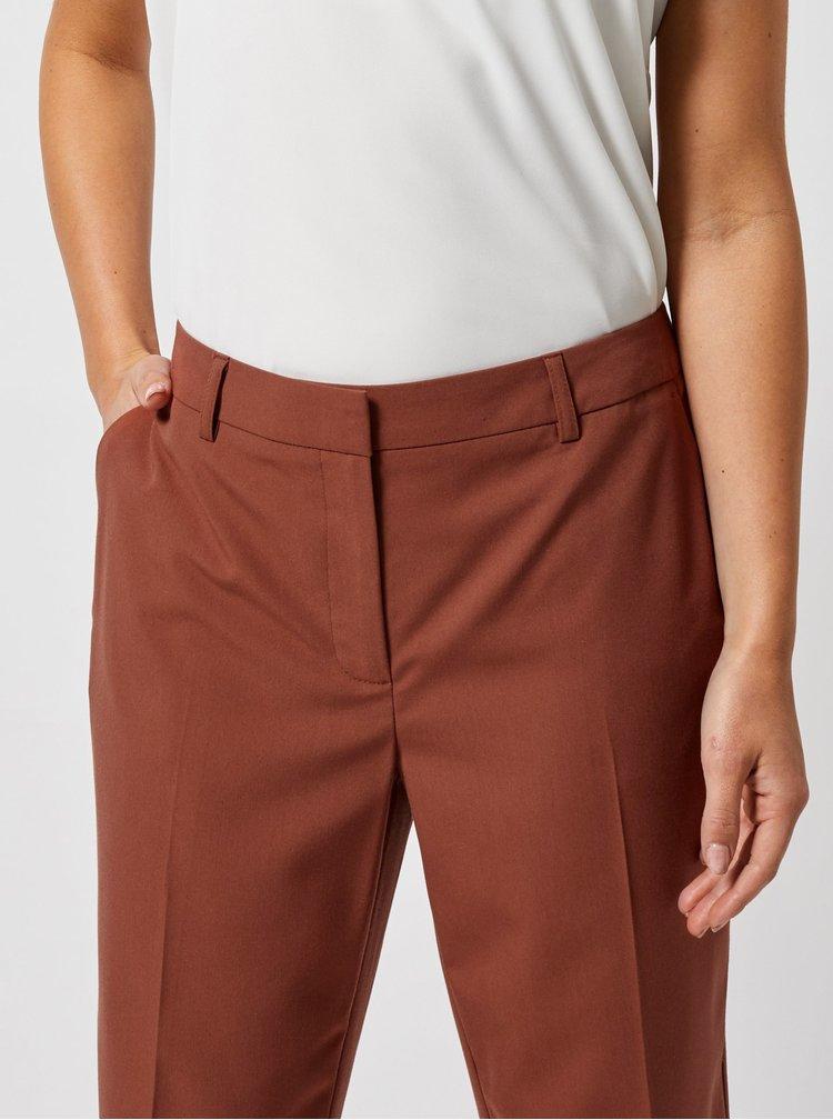 Hnedé skrátené nohavice Dorothy Perkins Petite