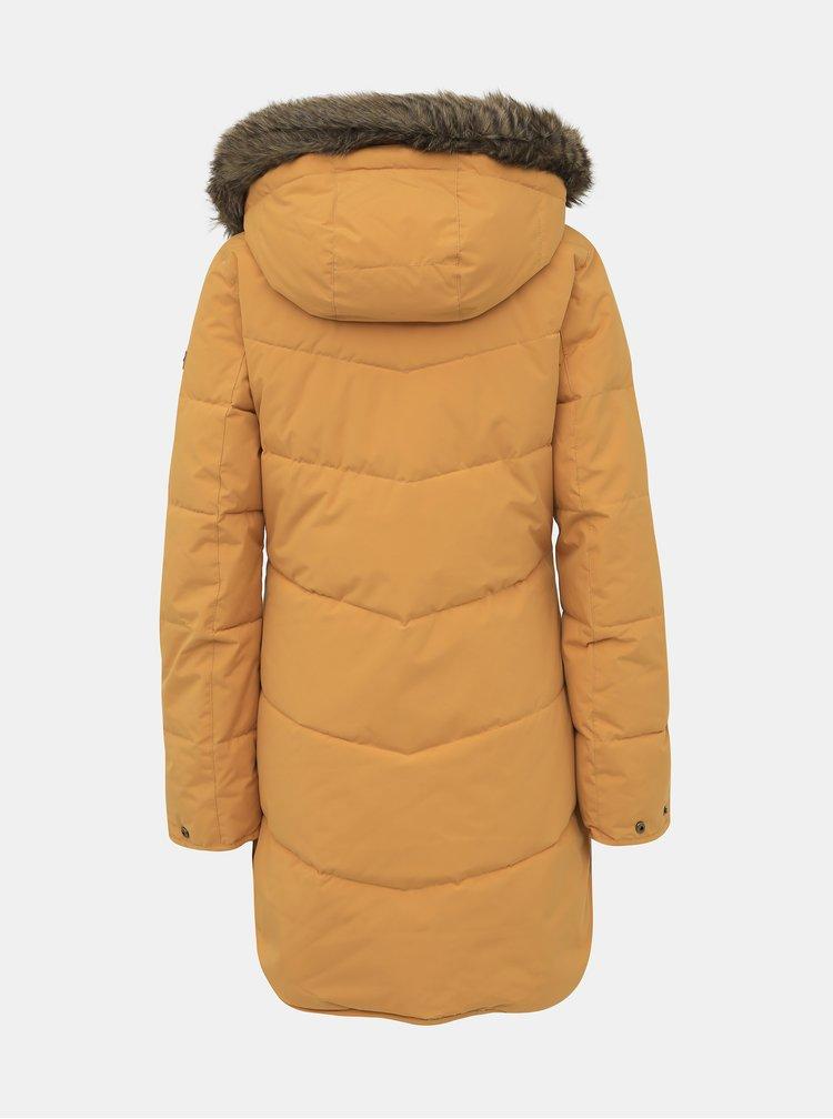 Hořčicový zimní nepromokavý kabát Roxy Ellie
