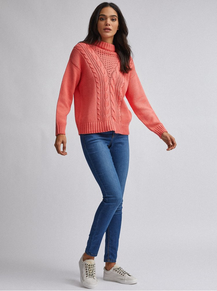Koralový sveter Dorothy Perkins
