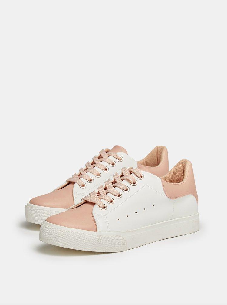Růžovo-bílé tenisky Dorothy Perkins