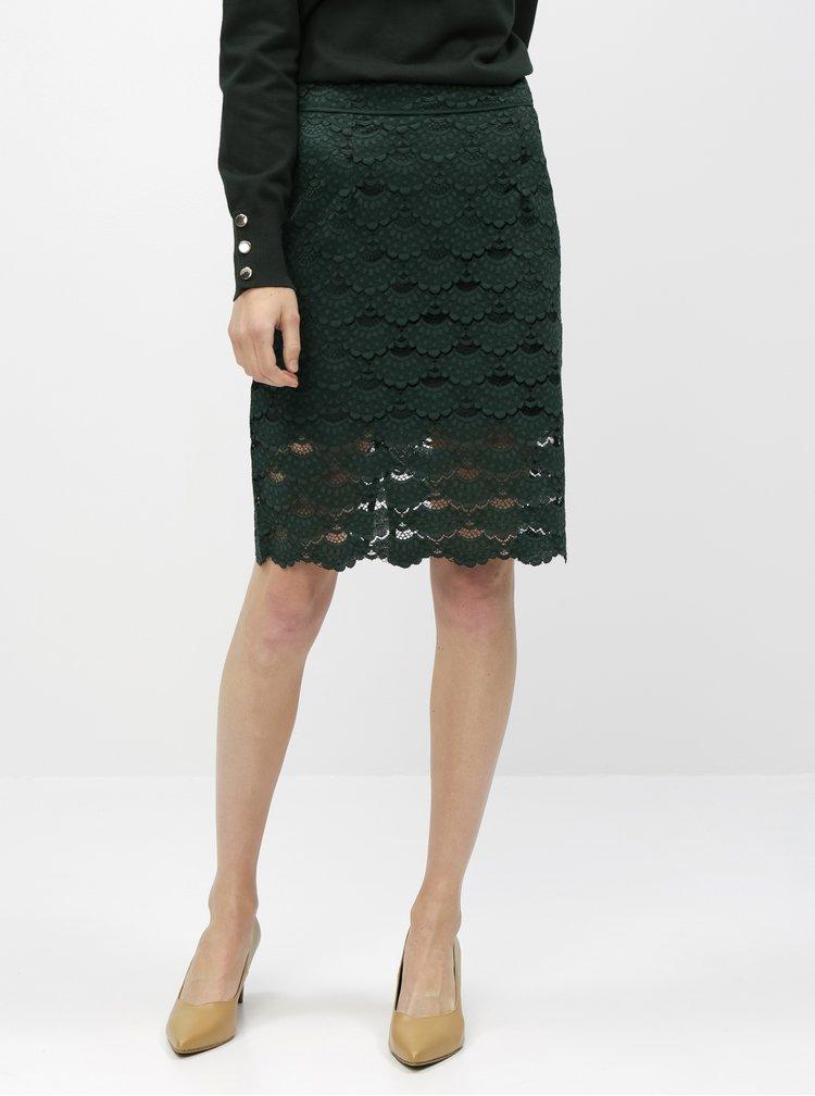 Zelená krajková sukňa VILA Lizette