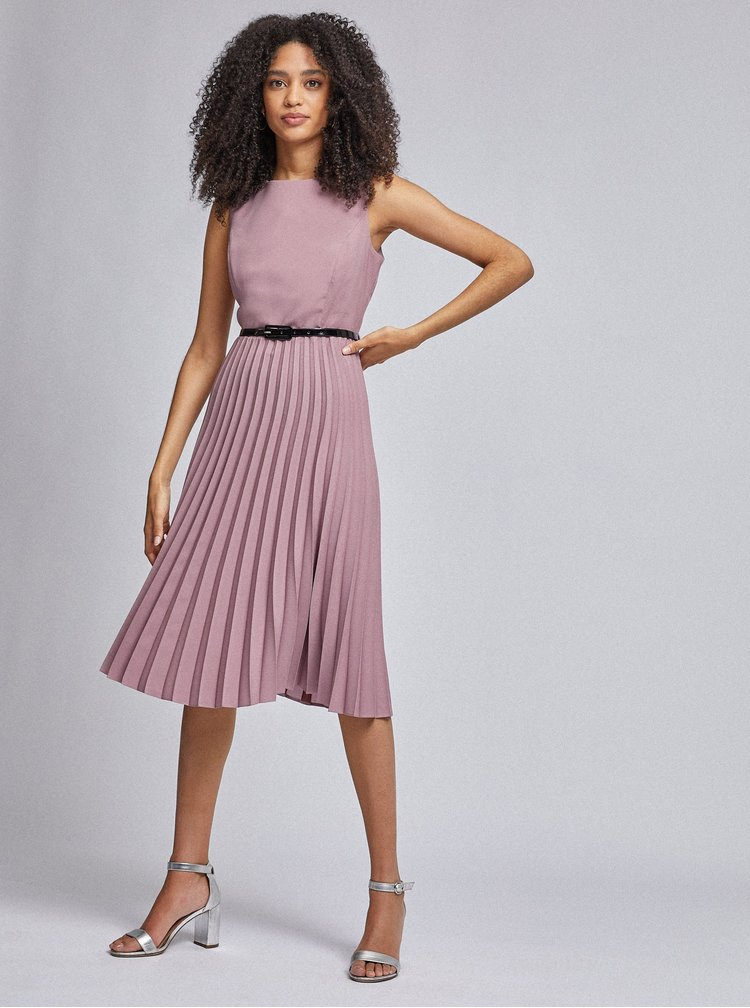 Starorůžové plisované šaty Dorothy Perkins