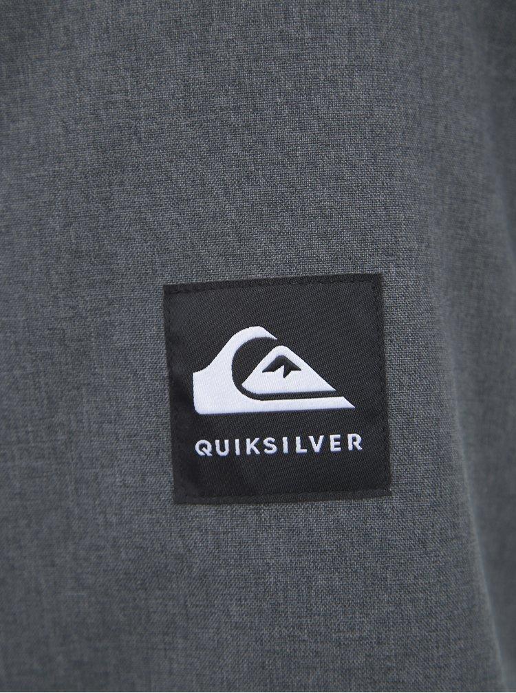 Šedá funkční zimní bunda Quiksilver Mission