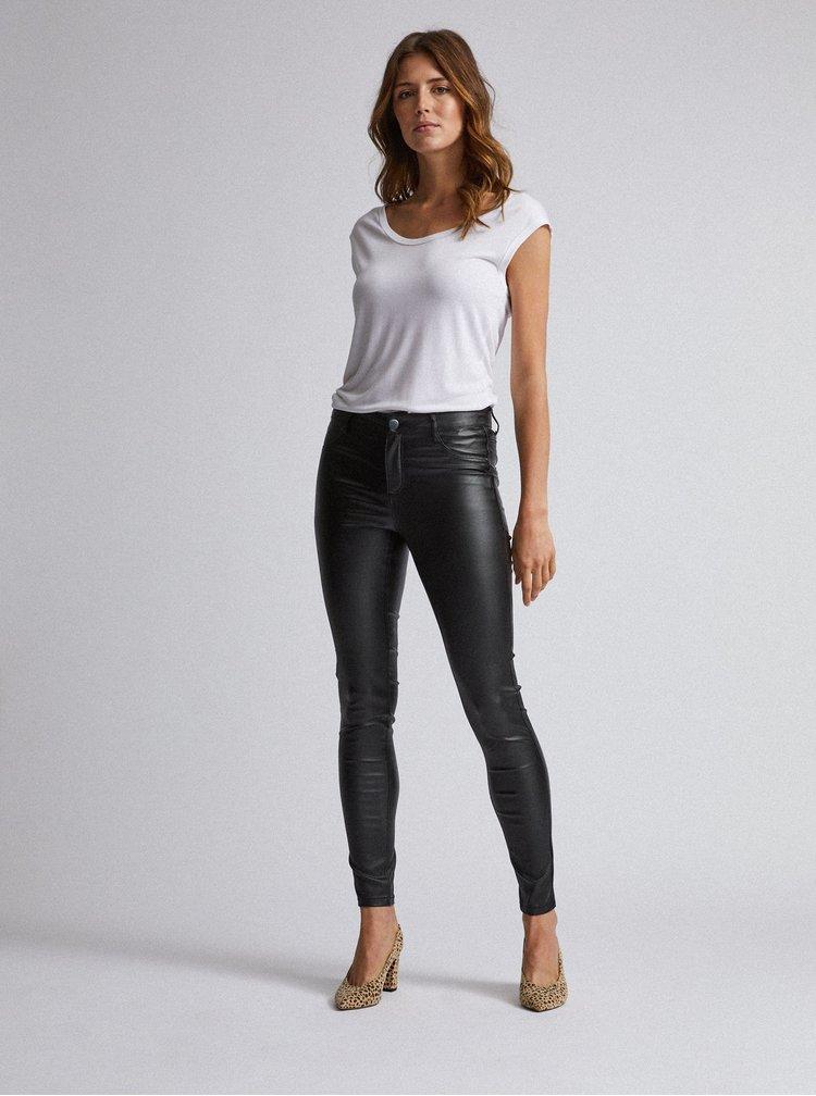 Černé super skinny fit kalhoty s povrchovou úpravou Dorothy Perkins
