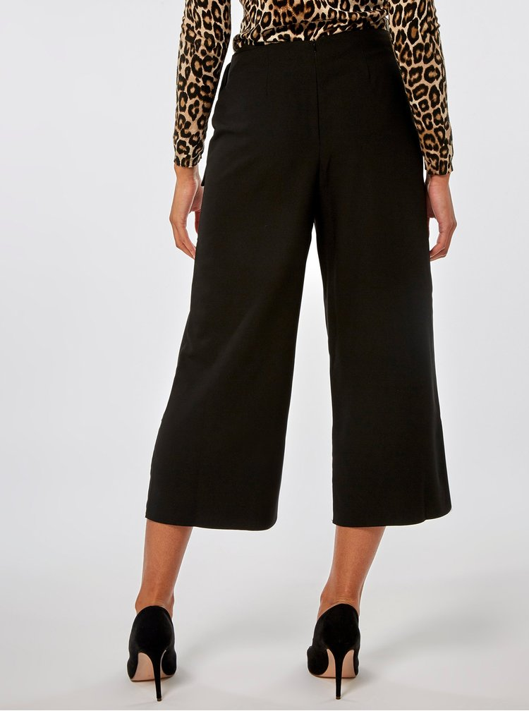 Čierne culottes s vysokým pásom Dorothy Perkins