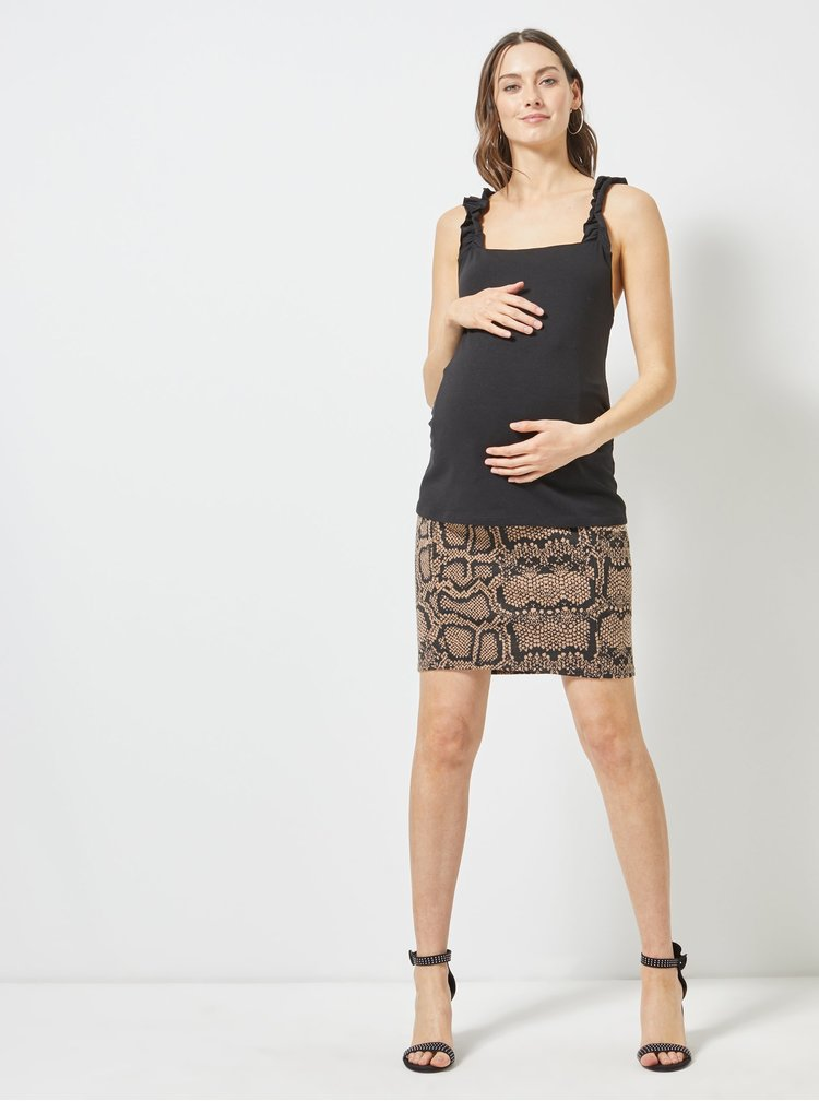 Černý těhotenský top Dorothy Perkins Maternity