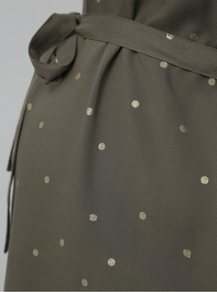 Khaki puntíkovaná dlouhá těhotenská halenka Mama.licious Mercy