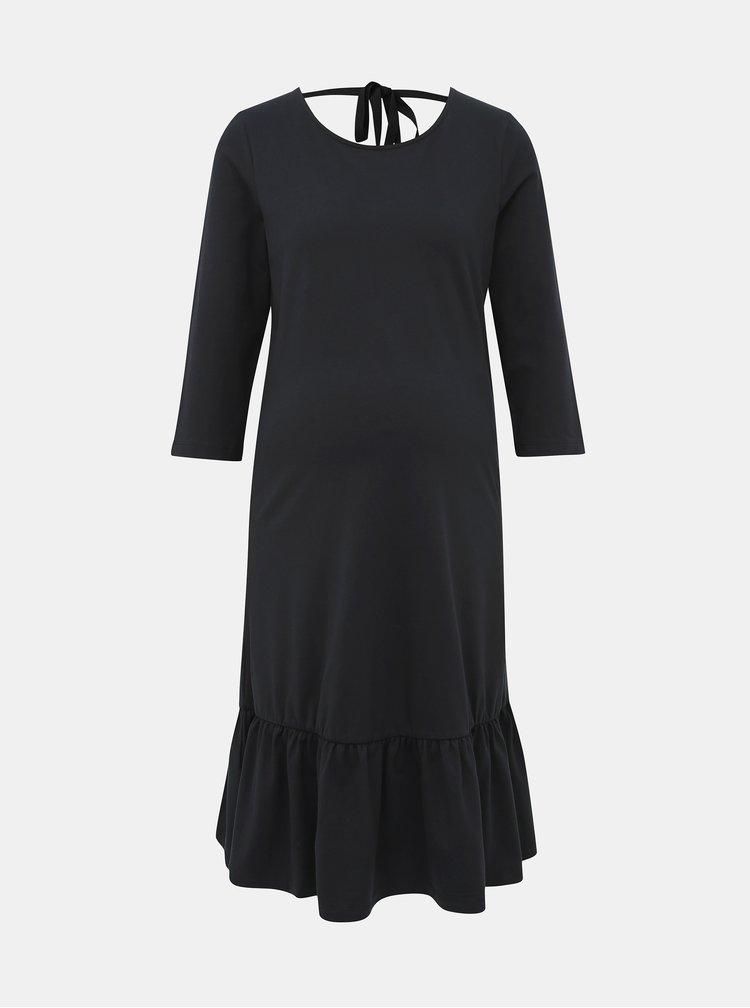 Černé těhotenské šaty Mama.licious Sasja