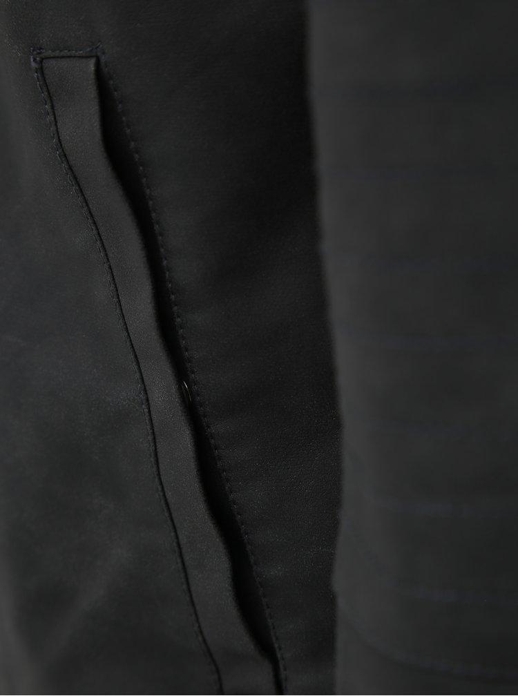 Tmavě šedá koženková bunda ONLY & SONS Favour