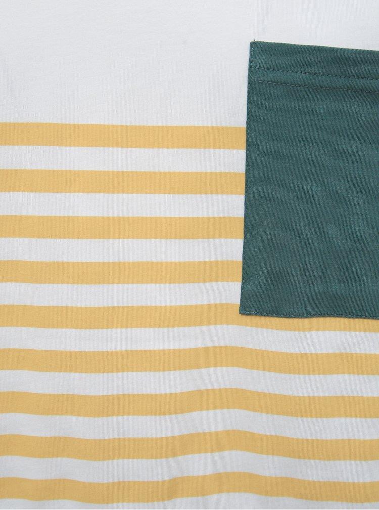 Zeleno-bílé tričko ONLY & SONS Del