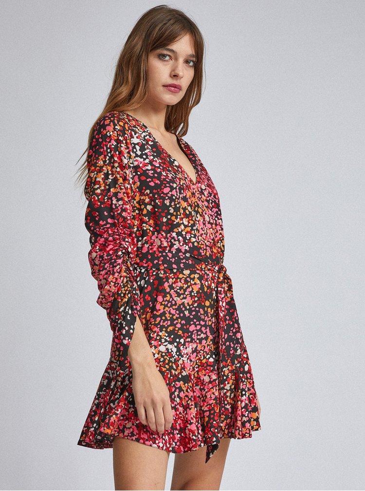 Rúžové vzorované šaty Dorothy Perkins