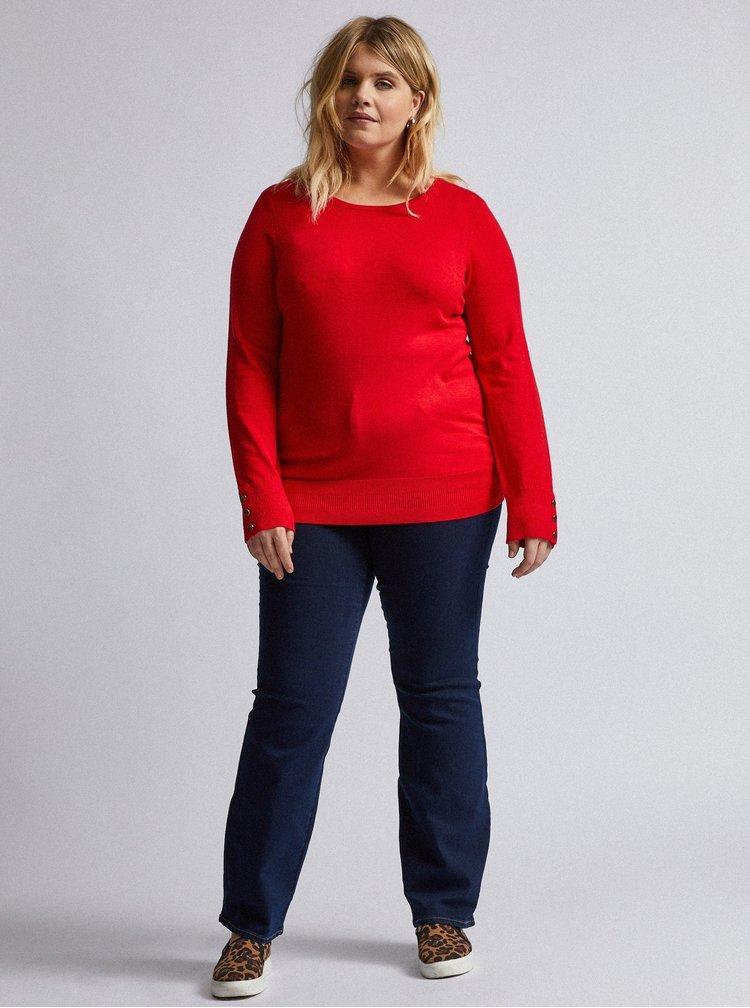 Červený svetr Dorothy Perkins Curve