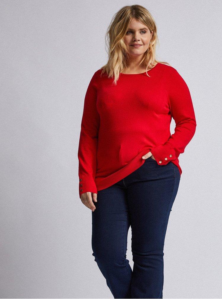 Červený sveter Dorothy Perkins Curve