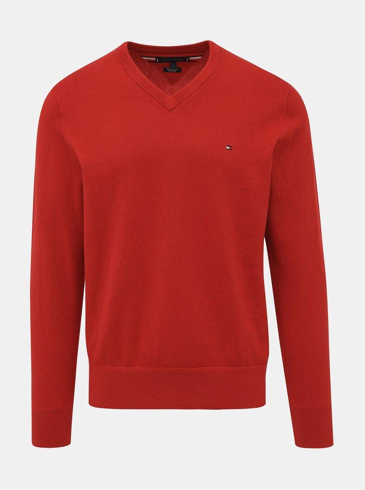 Červený pánský basic svetr Tommy Hilfiger