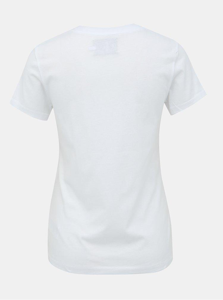 Bílé tričko s potiskem Calvin Klein Jeans Monogram