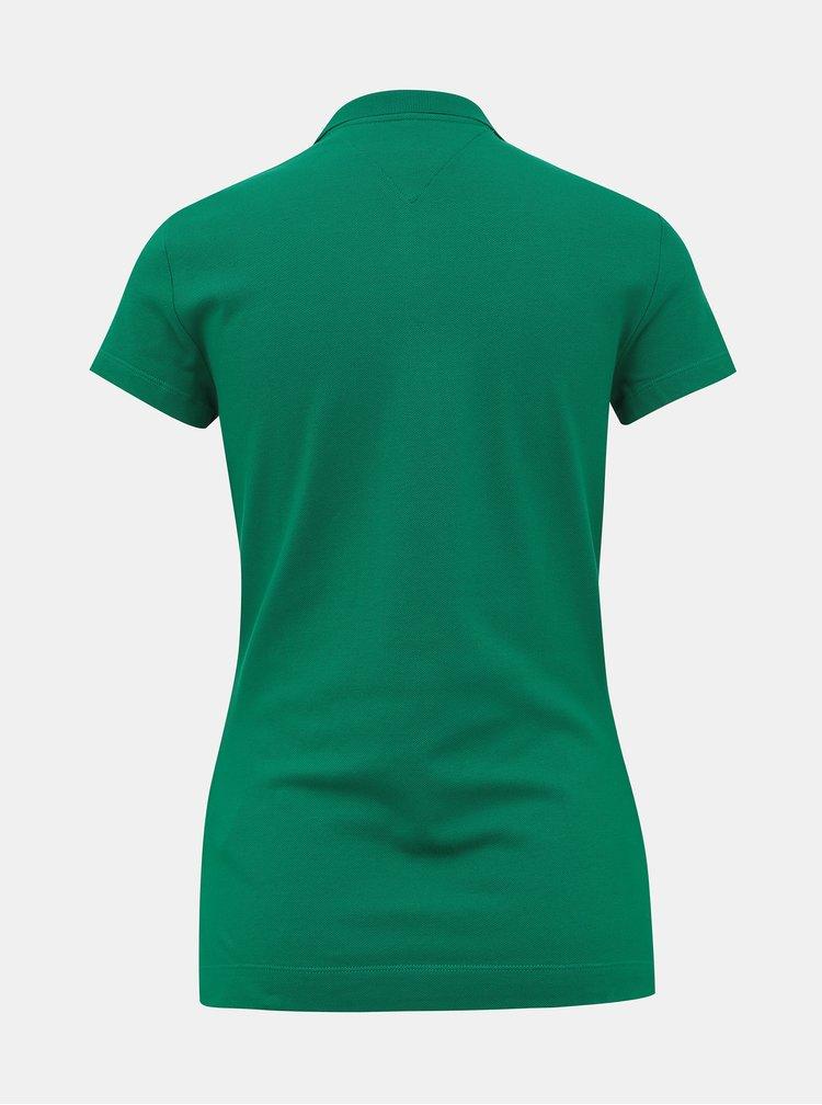 Zelené dámské basic polo tričko Tommy Hilfiger