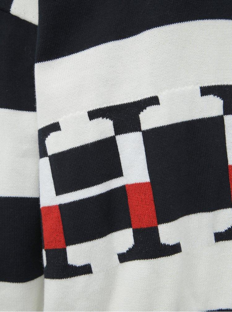 Bílo-modrý dámský pruhovaný svetr Tommy Hilfiger