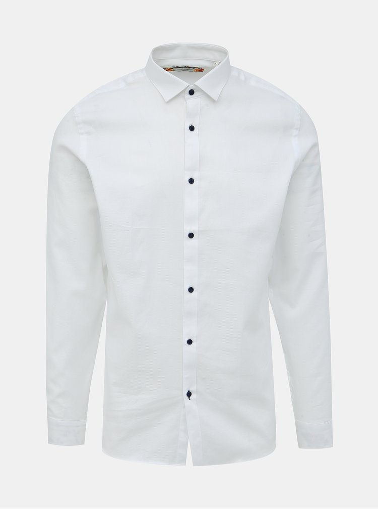 Bílá slim fit košile Jack & Jones Bla