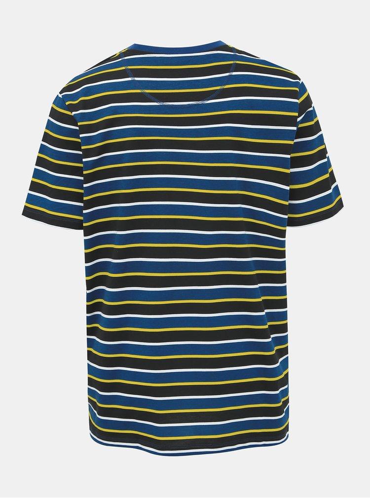 Tmavě modré pruhované tričko Jack & Jones Relief