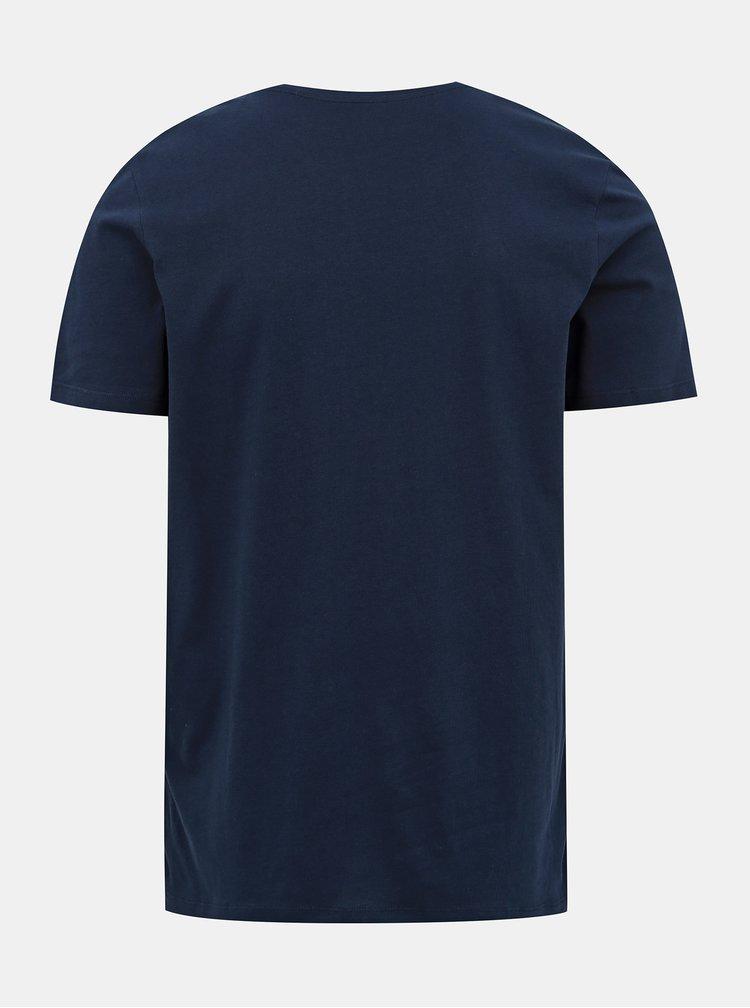Tmavě modré tričko s potiskem Jack & Jones Brad
