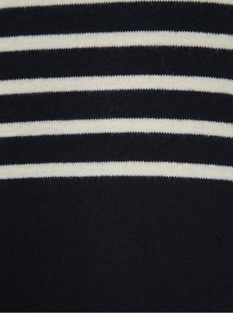 Tmavě modré pruhované svetrové šaty VERO MODA Sailor