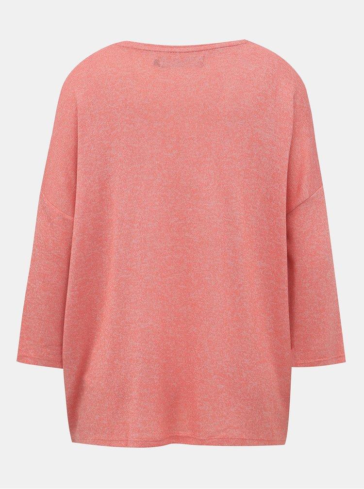 Růžový lehký basic svetr VERO MODA Brianna