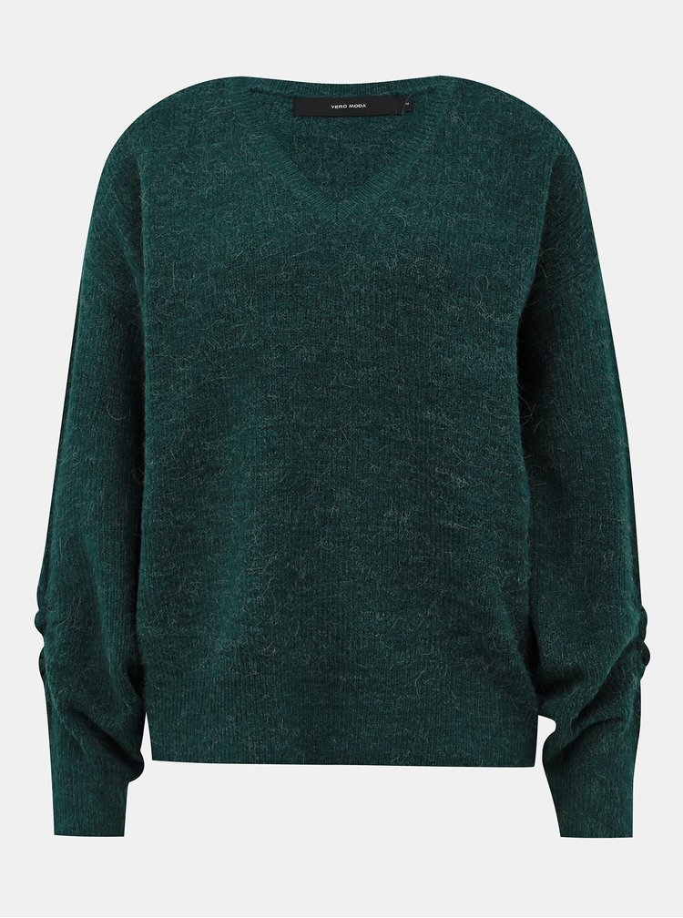 Zelený basic svetr VERO MODA Gata