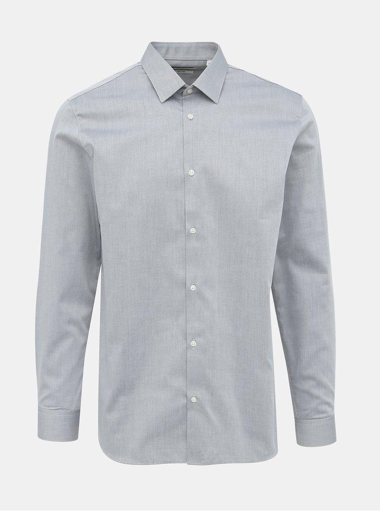 Šedá slim fit košile Jack & Jones Non Iron