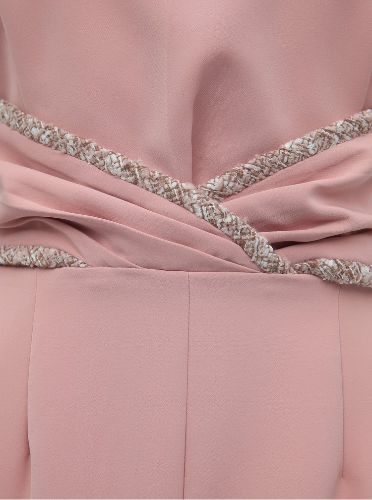 Růžové pouzdrové šaty Paper Dolls