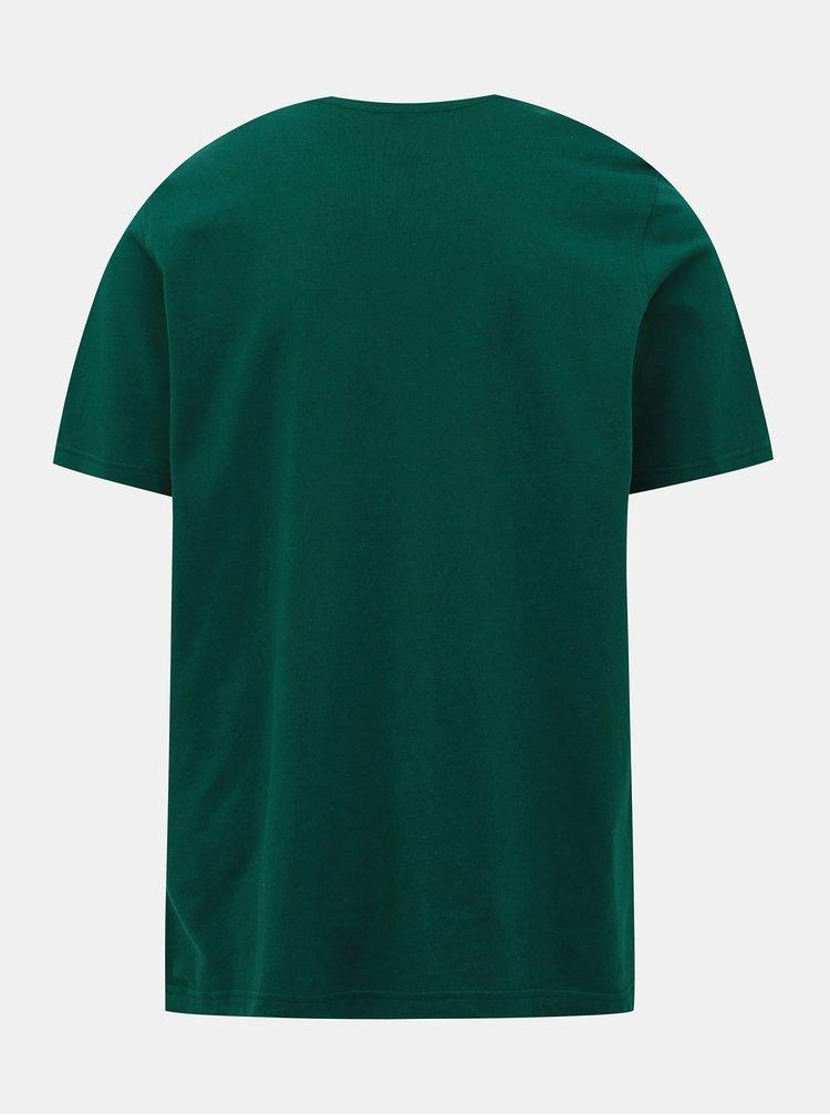Tmavozelené pánske tričko adidas Originals Trefoil