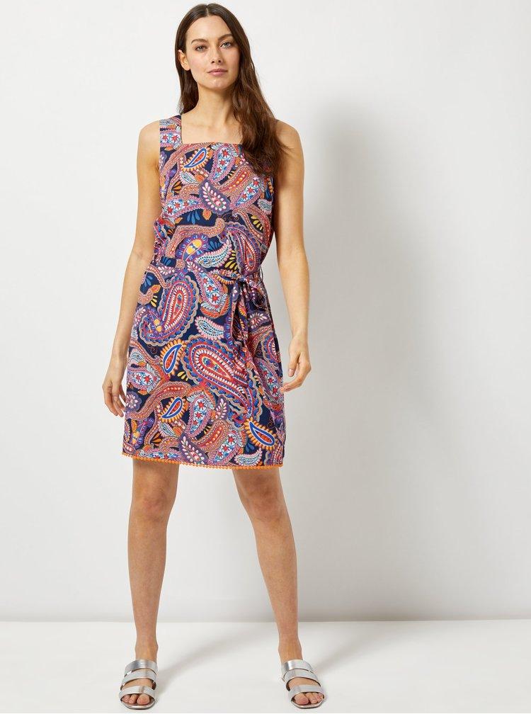 Modro-rúžové vzorované šaty Dorothy Perkins
