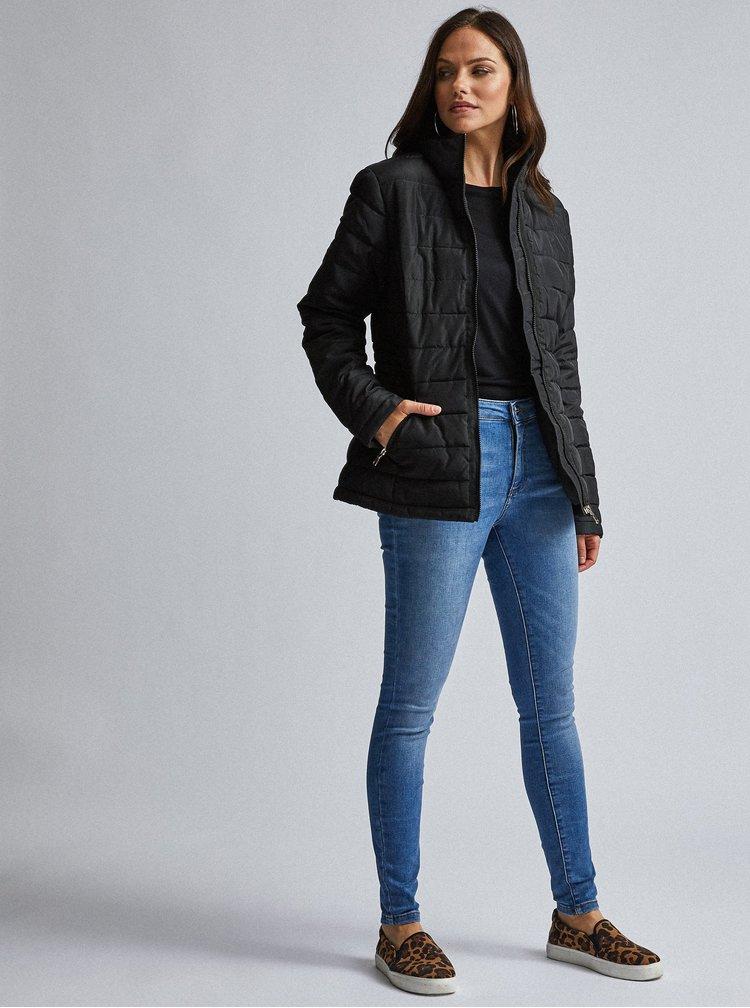 Černá prošívaná zimní bunda Dorothy Perkins