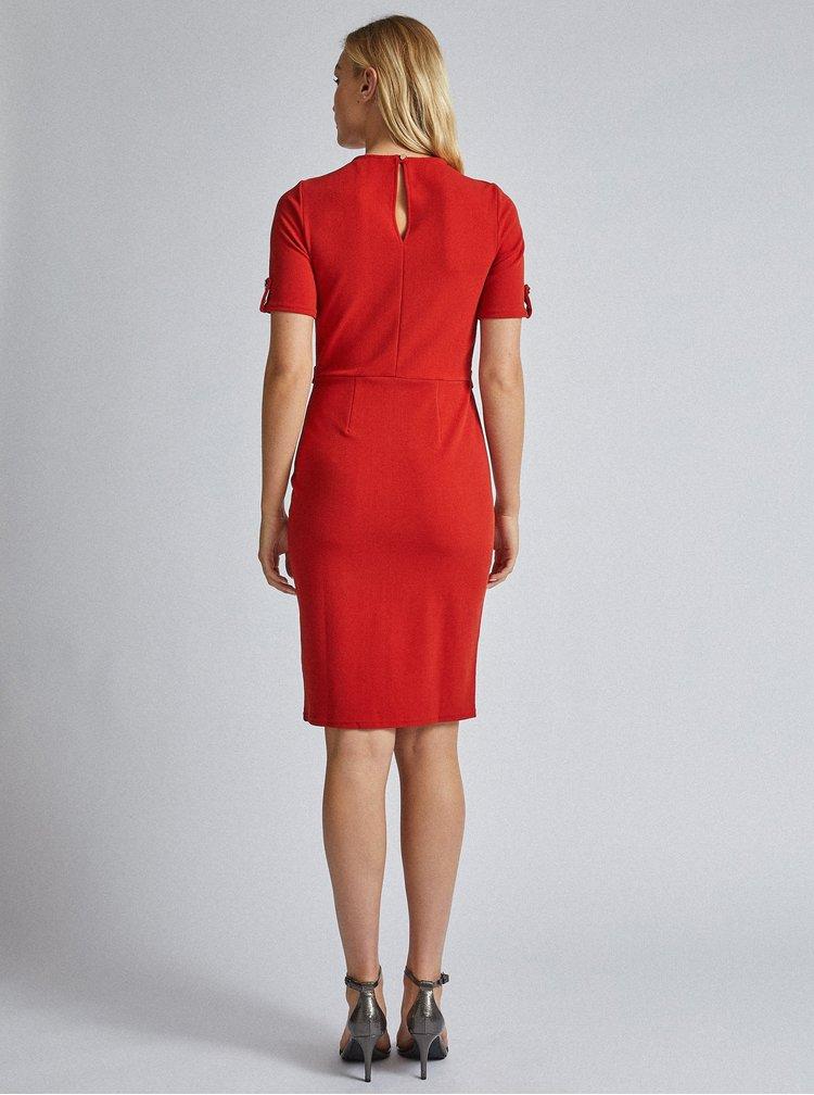 Červené púzdrové šaty Dorothy Perkins