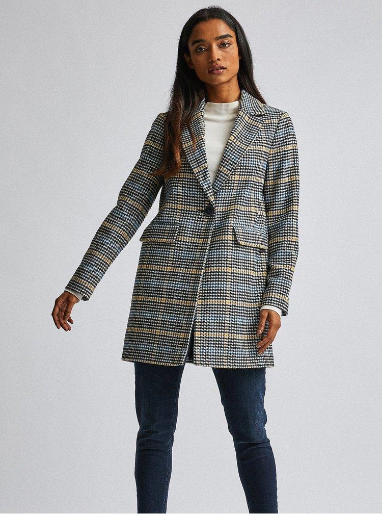 Šedý vzorovaný kabát Dorothy Perkins Petite