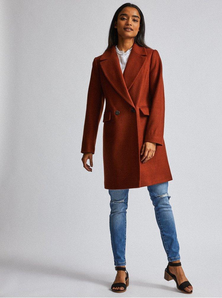 Hnedý kabát Dorothy Perkins Petite