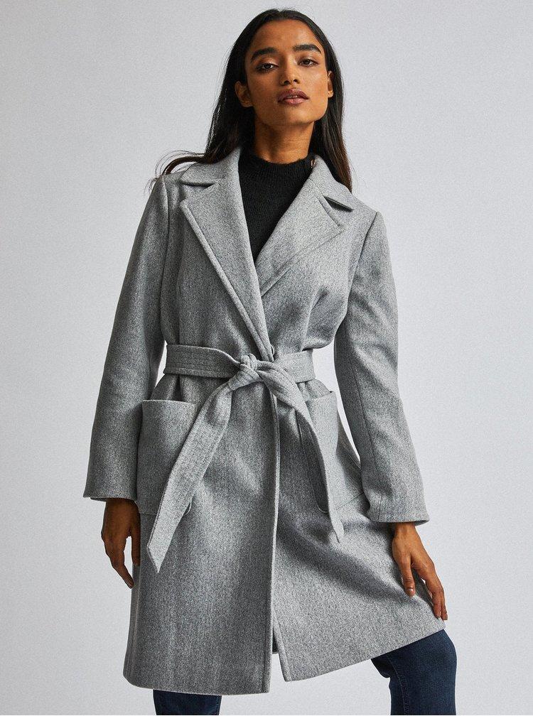 Šedý kabát Dorothy Perkins Petite