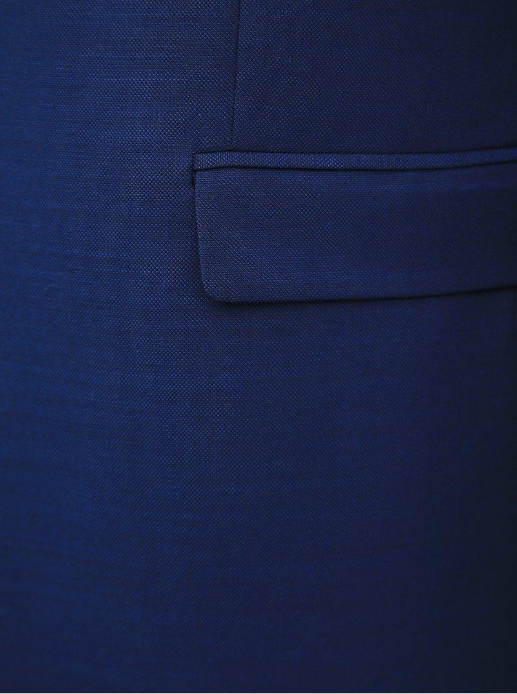 Modré oblekové sako s příměsí vlny Jack & Jones Solaris