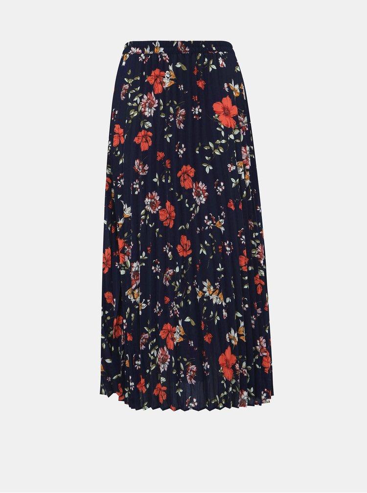 Tmavě modrá plisovaná maxi sukně ONLY Alma