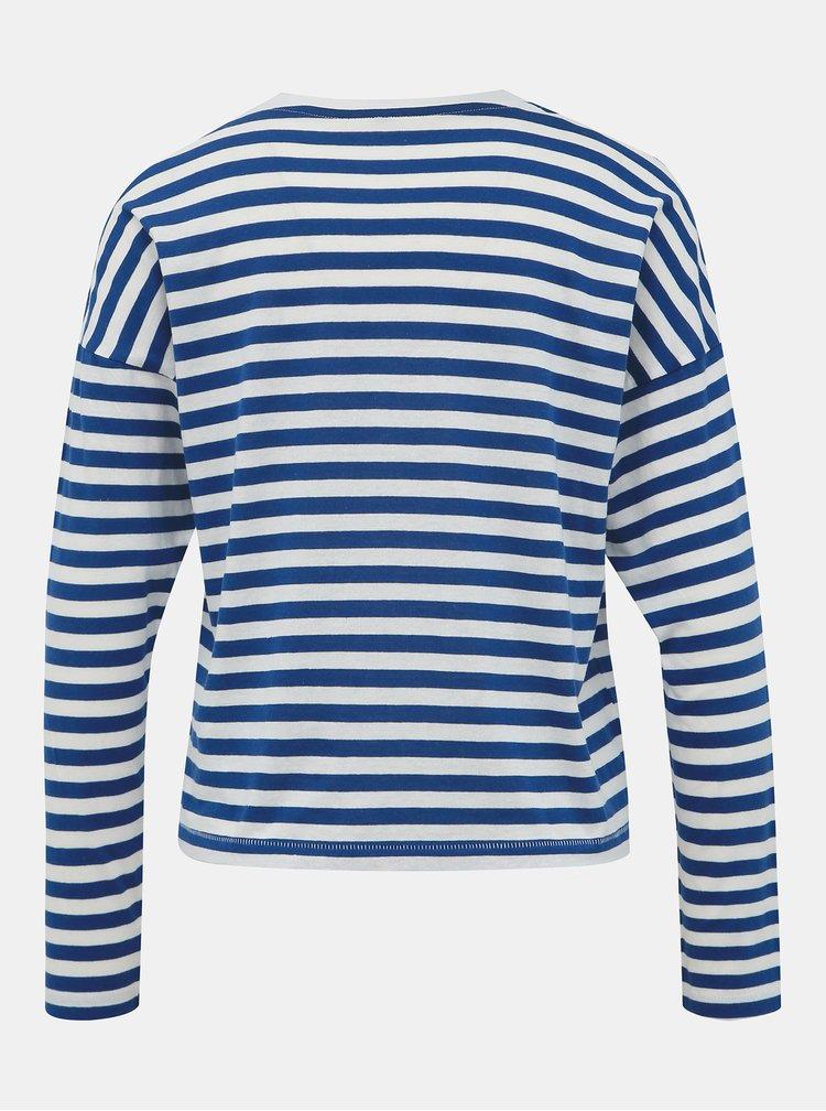 Bílo-modré pruhované tričko ONLY Rosely