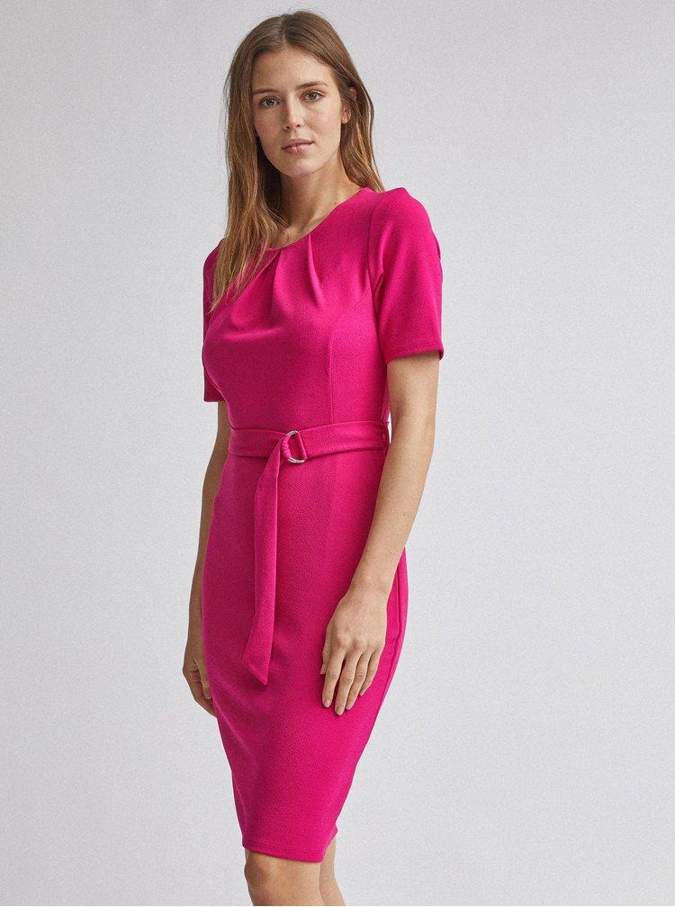 Rúžové púzdrové šaty Dorothy Perkins