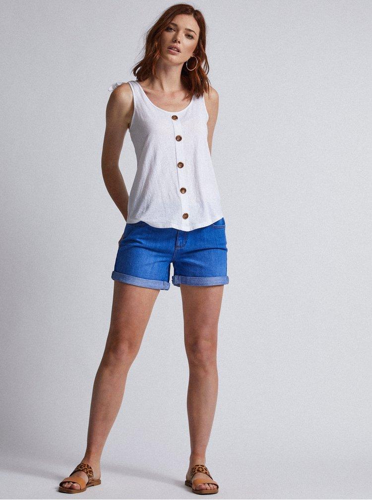 Pantaloni scurti albastri din denim Dorothy Perkins Tall