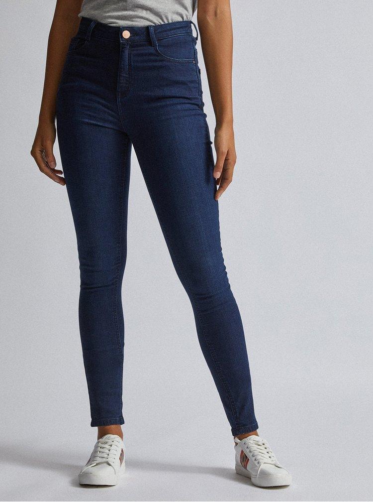Tmavě modré skinny fit džíny Dorothy Perkins Tall Shape&Lift