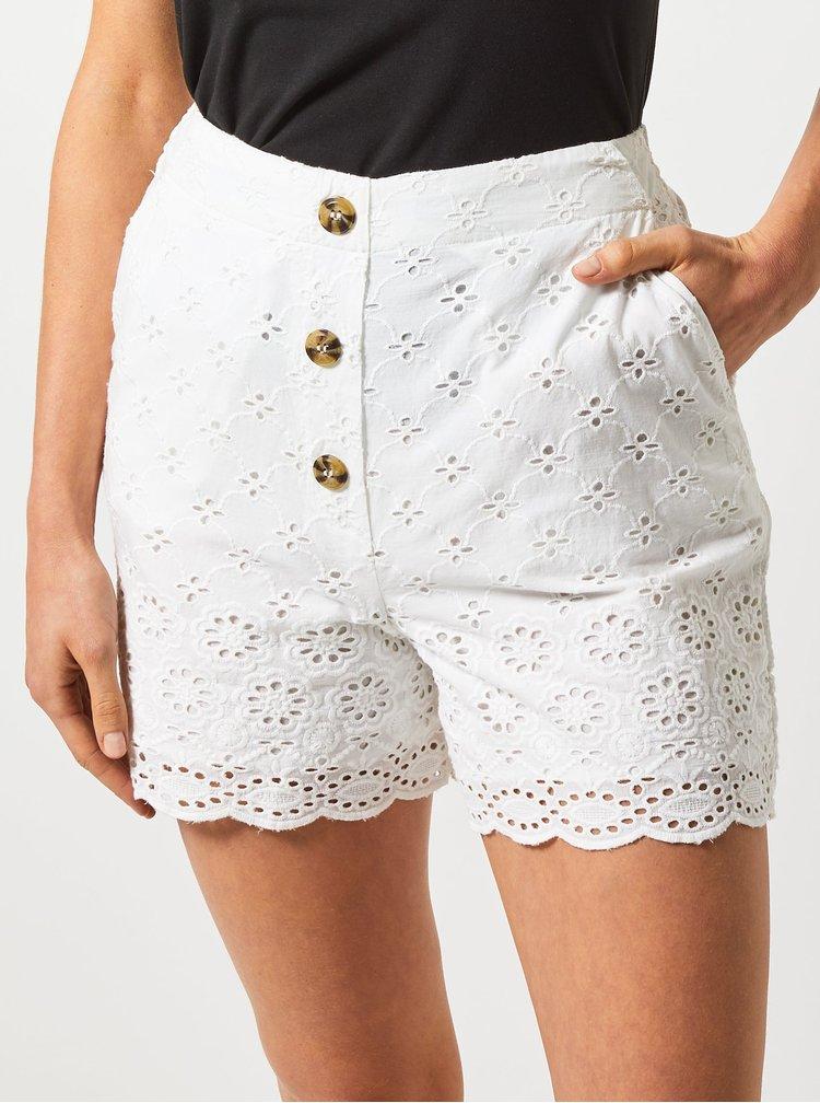 Pantaloni scurti albi cu madeira Dorothy Perkins