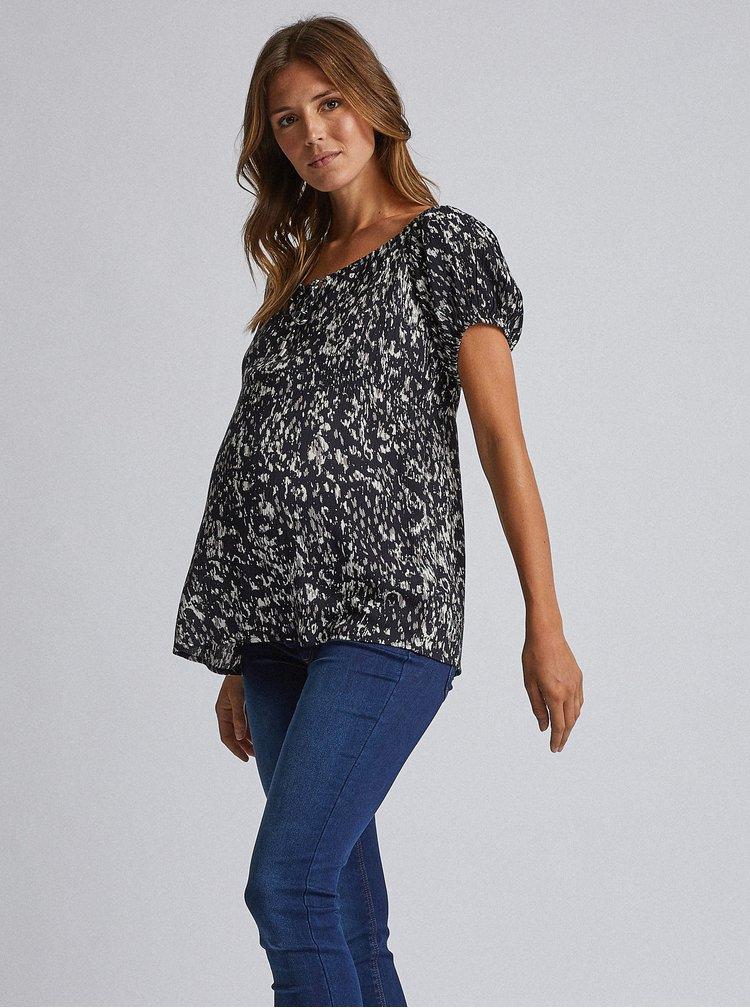 Čierna tehotenská vzorovaná blúzka Dorothy Perkins Maternity