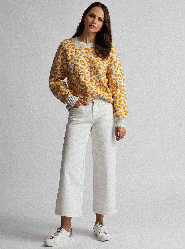 Krémový sveter s leopardím vzorom Dorothy Perkins