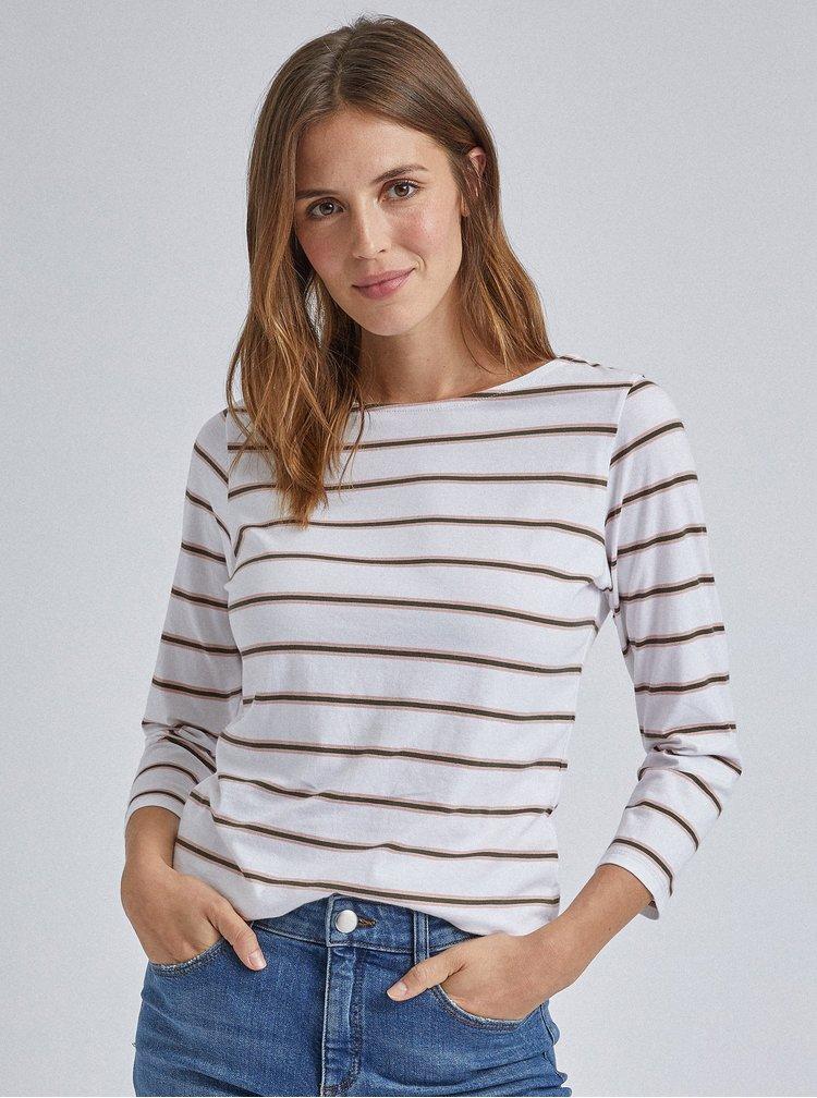 Biele pruhované basic tričko Dorothy Perkins