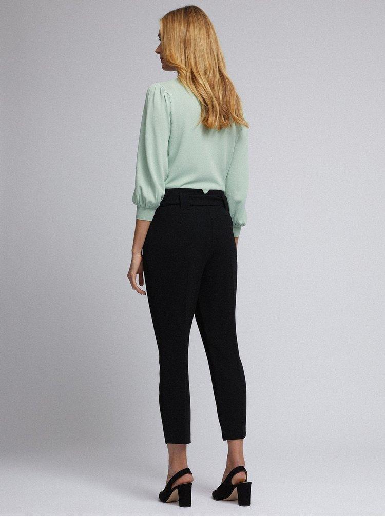 Čierne skrátené nohavice Dorothy Perkins