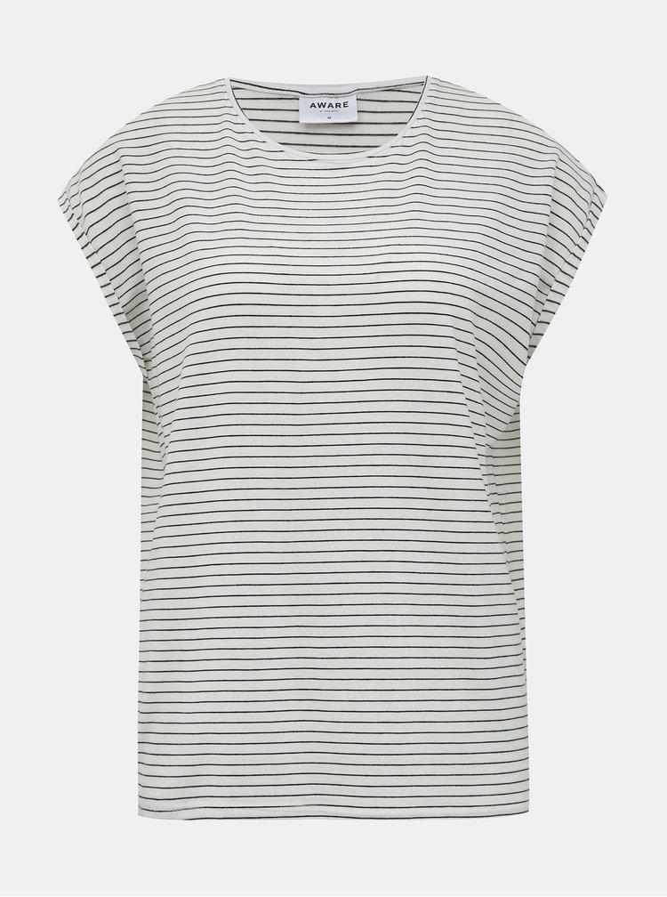 Tricouri basic pentru femei AWARE by VERO MODA - crem