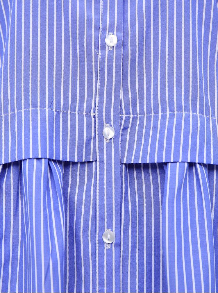 Modré pruhované košilové šaty Jacqueline de Yong Renna