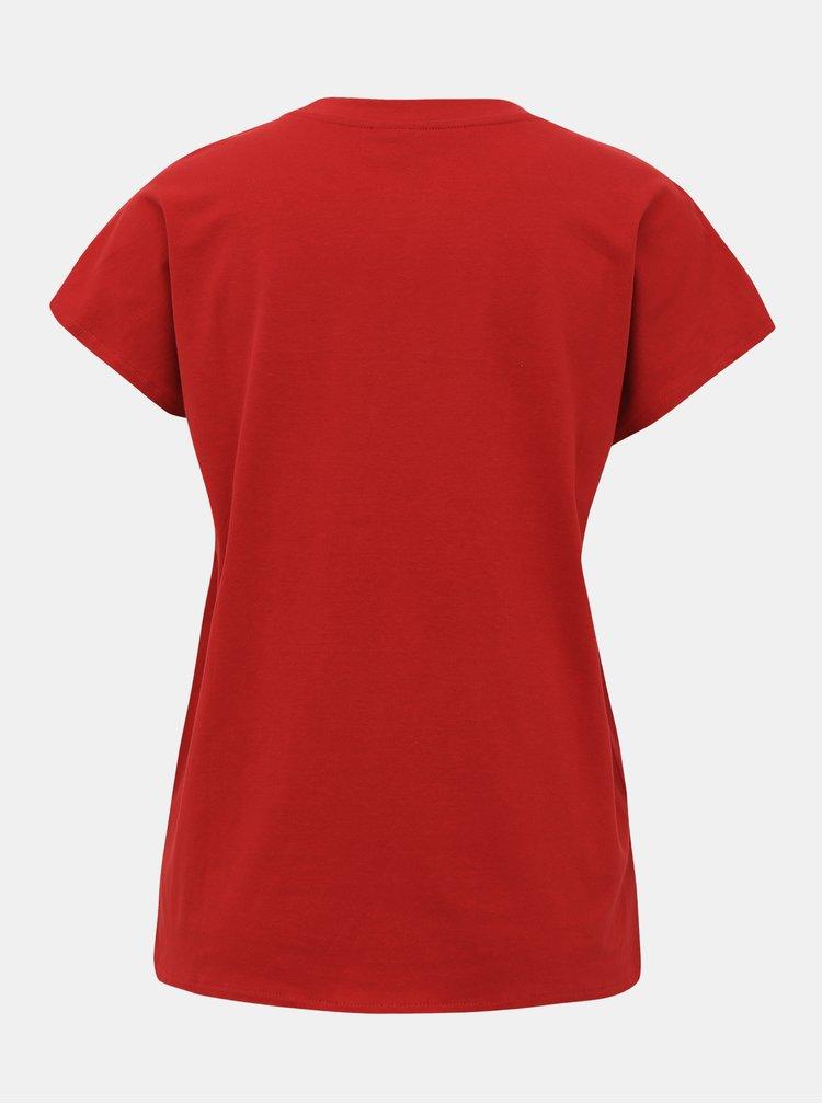 Červené basic tričko Jacqueline de Yong Lennie